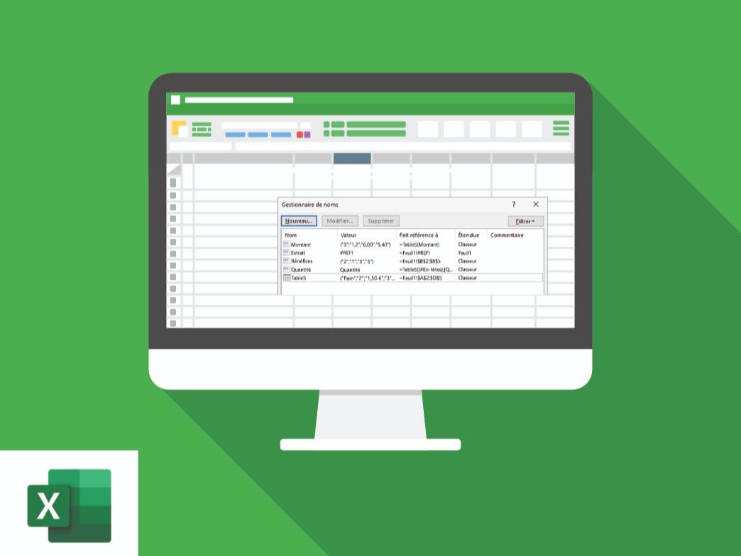 Améliorer mon approche des noms dans Excel